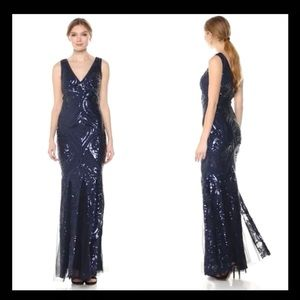 NWT Betsy & Adam Sequin Gown